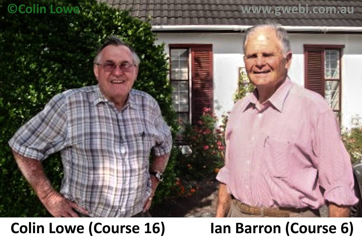 Ian Barron Course 6 and Colin Lowe Course 16 from Gwebi Collge of Agriculture