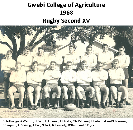 Photo of 1968 Gwebi College of Agriculture Rugby Second XV